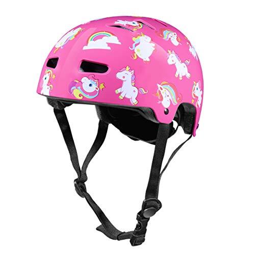 CLISPEED 1Pc Casco per Bambini Casco per Bambini Sport Equipaggiamento Protettivo Protezione per La Testa per La Testa Casco per Ragazzi Ragazze Pattinaggio di Sicurezza Scooter Ciclismo - Rosa