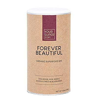Forever Beautiful Superfood Mix by Your Super, Plant Based Anti-Aging & Skin Health, Produce Natural Collagen, Powder Fruit Blend with Essential Vitamins & Minerals, Non-GMO, Organic Ingredients