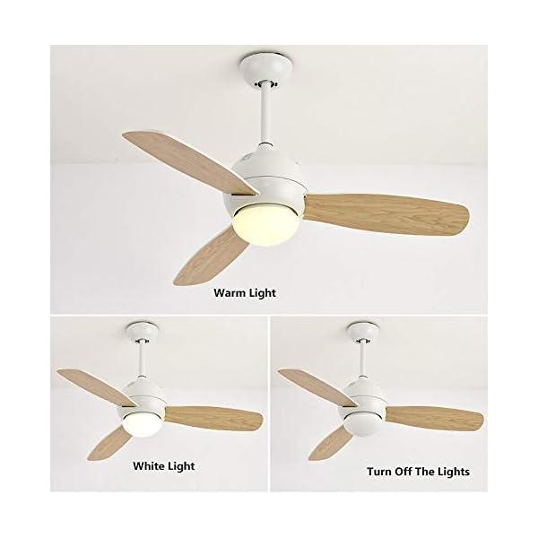 Luz-del-Ventilador-de-Techo-Ventilador-de-Estilo-nrdico-con-Control-Remoto-Techo-de-luz-del-Ventilador-ultrasilent-con-atenuacin-de-la-luz-led-Tricolor-y-Velocidad-del-Viento-de-Tercer-Engranaje