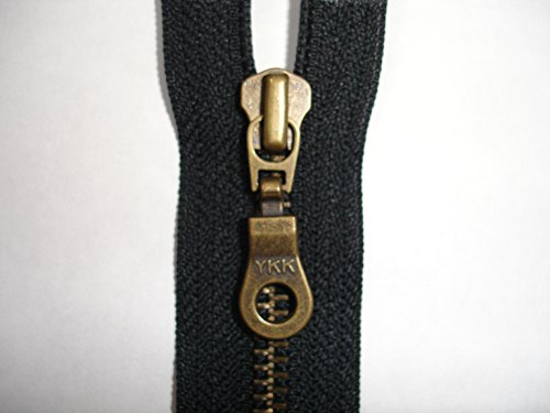 YKK METAL ZIPS BLACK DAL 1 VARIOUS SIZES IN INCHES CLOSED END Zipper size  7