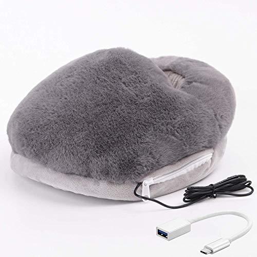 足温器フットウォーマー速暖足冷え対策USBフットウォーマー5V電気足温器柔らかい暖か節電電気フットウォーマー取り外し可能洗える足入れホットフットヒーター男女兼用ダークグレー