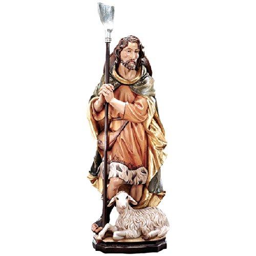 Demi Art - Heiligenfigur Hl. Wendelin aus Berg-Ahorn Holz geschnitzt und von Hand bemalt, 30 cm