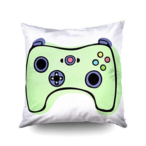 WH-CLA Pillow Cover Video Game Controller Oder Gamepad Icon Bettwäsche Buntes Geburtstagsgeschenk Square 45X45Cm Personalisiertes Sofa Doppelseitiger Druck Kissenbezüge Standard Weicher