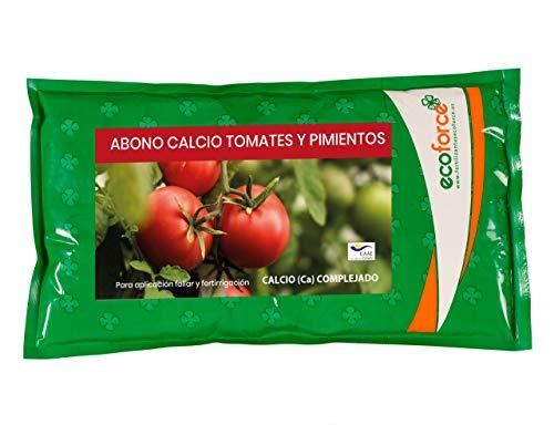 CULTIVERS Abono Calcio para Tomates y Pimientos Ecológico de 1 Kg. Corrector de Carencias de acción inmediata. Refuerza la Resistencia a Enfermedades. Mejora la Calidad y la Producción del Cultivo