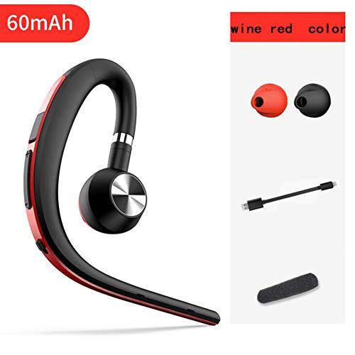 YAMEIJIA Xuan Yue 3 hangend oor draagt draadloze Bluetooth koptelefoon tegen privés beste mobiele telefoonkoptelefoon compatibel met bedrijfsauto,WineRed,60mAh