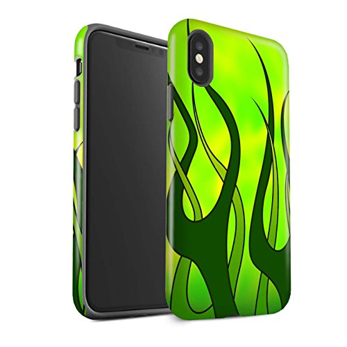 Stuff4®Phone Case/Cover/Skin/ip-3dtbm/Flame Paint Job Collection Verde y Lima Apple iPhone X/10