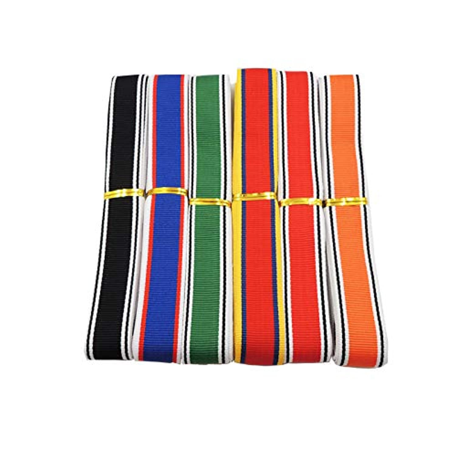 18 Yards Striped Ribbons National Flag Striped Ribbon for Crafts