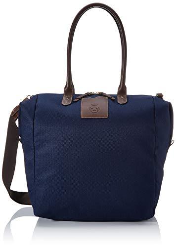 Roeckl Unisex-Erwachsene Bottle Bag Schultertasche Maxi Henkeltasche, Blau (navy), 18x37x42 cm