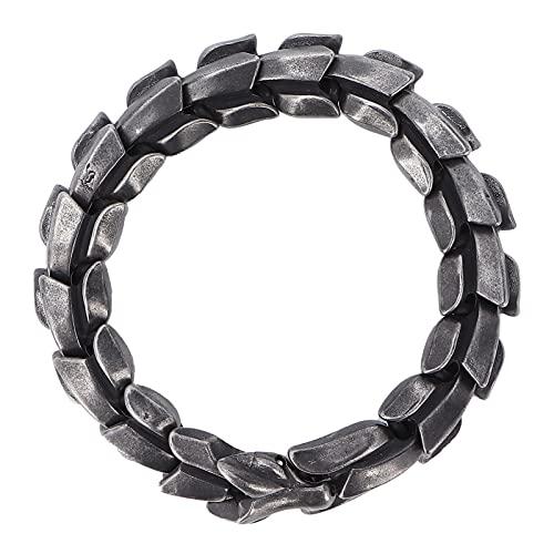 Pulsera de acero de titanio, pulsera de cadena de acero de titanio, pulsera punk elegante de moda de metal, joyería para hombres