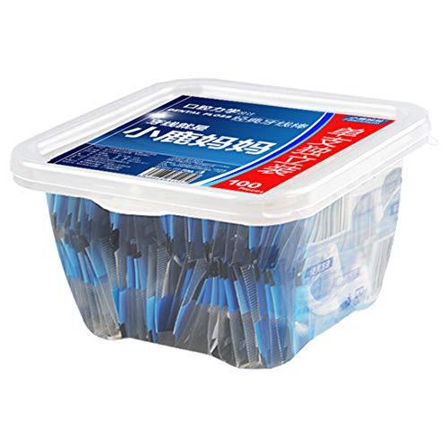 Fawn Mum Zahnseide Stick, Zahnreinigung, einzeln verpackt, Box (100 Stück)