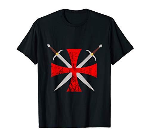 Tempelritter Kreuz Templerorden Ritterorden Schwerter Ritter T-Shirt