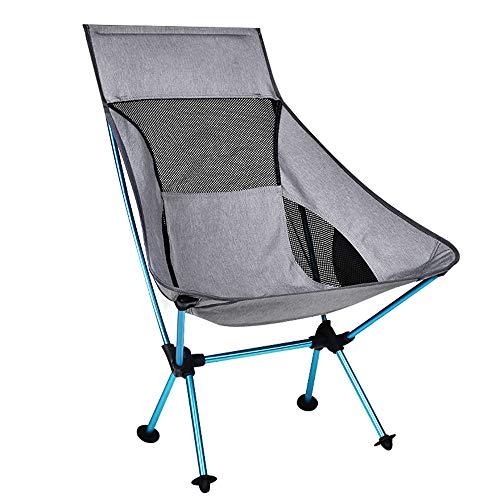 DuHLi Tragbare Grau Moon Chair Angeln Camping Hocker Folding Erweiterte Wandern Sitz mit Taschenultra Office Home Furniture