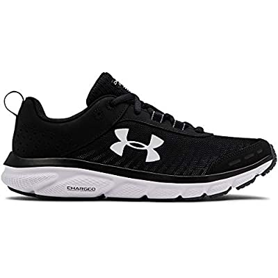 Under Armour Women's Charged Assert 8 Running Shoe, Black (001)/White, 7.5