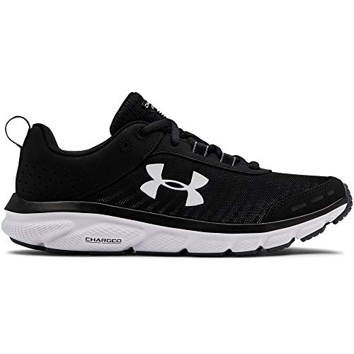 Under Armour Women's Charged Assert 8 , Black (001)/White , 8.5