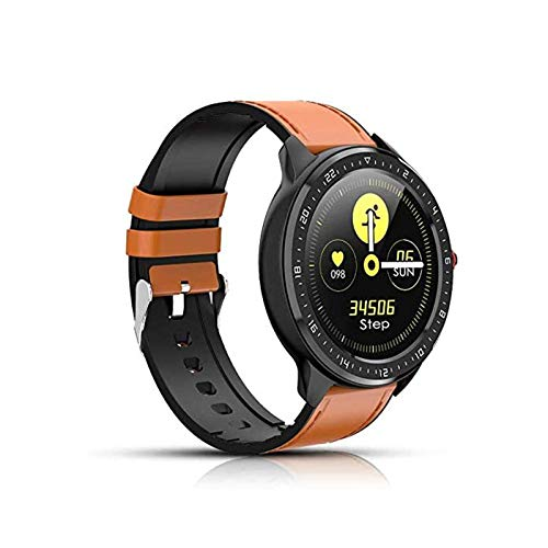 MEETGG Reloj inteligente, rastreador de fitness, seguimiento de actividad, reloj de ejercicio con alerta SMS, control de música, monitor de sueño, pulsera impermeable con pantalla táctil