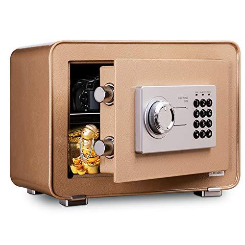 Cajas fuertes para el hogar con llaves, contraseña digital de alta seguridad con valor alarmado para incombustible, impermeable, todo de acero fácil de usar, protege tus objetos de valor