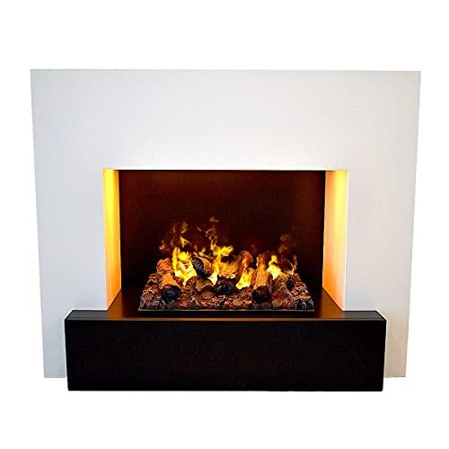 GLOW FIRE Chimenea eléctrica Hauptmann de vapor de agua 3D Opti-Myst | OMC 600, cubierta de madera