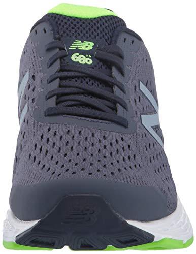 New Balance Men's 680 V6 Running Shoe, Pigment/RGB Green, 11 4E US 4