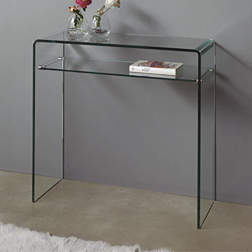 Dugarhome Kleine Glaskonsole, modernes Design