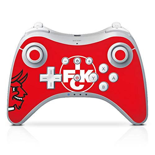 DeinDesign Skin kompatibel mit Nintendo Wii U Pro Controller Folie Sticker Teufel 1. FCK 1. FC Kaiserslautern