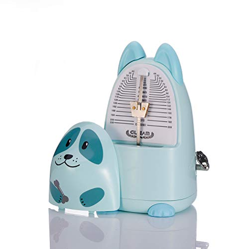 Cartoon Mechanical Metronome for Piano with Bell, White-Dog