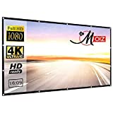 MOIZ Projector Screen, Upgraded 84 inch 4K 4:3 HD Portable Projector Eyelet Screen, (6 ft. (W) x 4...