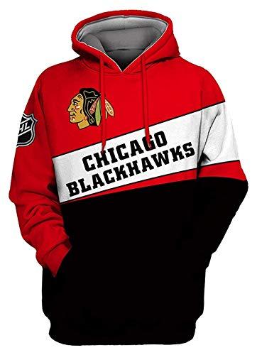 YIMINGss NHL Herren Eishockey Hoodie Kapuzenpullover Sweatshirt San Jose Sharks/Philadelphia Flyers/Chicago Blackhawks mit Reißverschluss Langarm Kapuzenjacke Pullover (Color : 5, Size : 3XL)