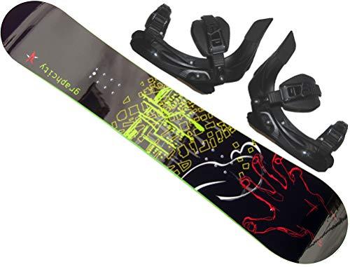 Graphcity Snowboard Rocker-Board 150cm inkl. Bindung