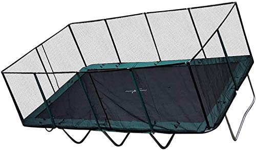 Happy Trampoline - Galactic Xtreme Gymnastic Rectangle Trampoline with Net Enclosure - High Performance & Safety Features Commercial Grade I Life-time warranty, 550 lbs Jumping Capacity, 10 X 20 Ft