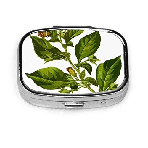 Belladonna Deadly Herbal Medicinal Medicine Stylish Pill Case Small Daily Pill Box Organizer Case