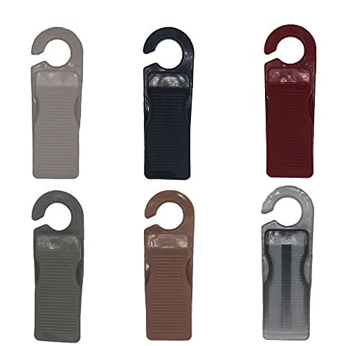 Tope-Alfombra De Goma Para Puerta, Cuña De Seguridad De Goma Para La Parte Inferior De La Puerta, 4 Piezas, Seis Colores (Caqui)