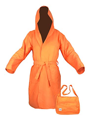 Tex family Albornoz técnico KIDDY para niño de microfibra naranja – 6 – 8 años