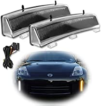 GTINTHEBOX LED Front Bumper Switchback Amber/White Daytime Running Lights with Turn Signal Lamp Kit for 2006-2009 Nissan 350z LCI