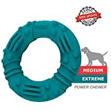 GUCHO Updated Ultra Durable Dog Chew Toys for Aggressive Chewers - Lifetime Replacement Guarantee - Indestructible Natural Rubber Dog Toys - Tough Strong Dog Toys for Medium Small Dogs