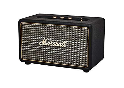 Marshall Acton II Black Dock Bt, Altavoz con Cable, cable, EU, Negro
