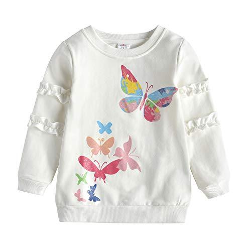 VIKITA Mädchen Baumwolle Langarm T-Shirt Top L4773 7T
