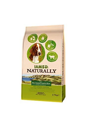 Iams Naturally Hund Lamm (Trockenfutter für erwachsene Hunde mit viel Lamm aus Neuseeland & Reis), 2.7 kg Beutel, 3er Pack (3 x 2.7 kg)