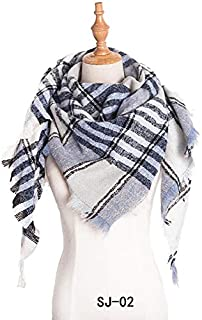 VIOAPLEM VIOAPLEM Gift Pink Lattice Scarf Winter Warm Fashion Geometric Graphic Thin Shawl Women