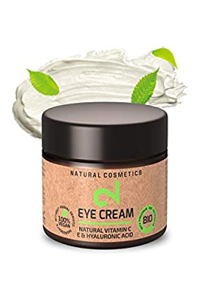 DUAL Natural Vitamin C & Hyaluronic Acid Eye Cream | Microalgae & Broccoli|100% Natural Eye Cream| Skin Hydration|Anti-Aging Eye Cream |Organic Eye Cream|Vegan & Certified | 25 ml |Made in Germany from Dual Gmbh
