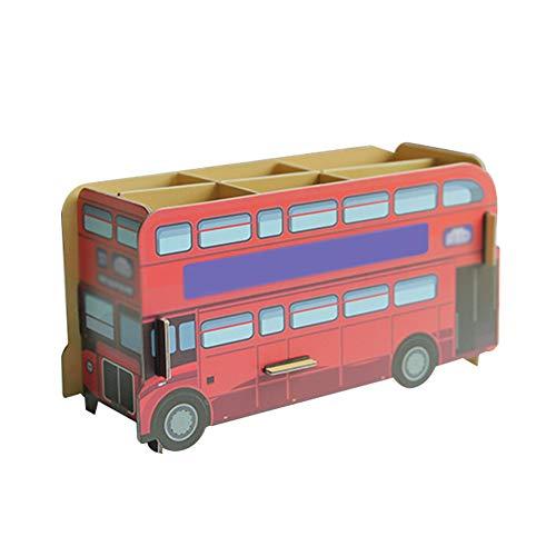 Monbedos Monbedos Creative Papieren Pennenhouder, magazijnrek, pennenhouder, bureau-opbergdoos 29 * 25cm bus