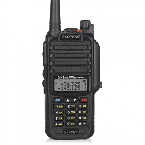 BaoFeng 1 Pack GT-3WP PoFung GT-3WP Dual Band Two-Way Radio, Waterproof Dustproof IP67 Walkie Talkie Transceiver, VHF/UHF 136-174/400-520MHz, Black