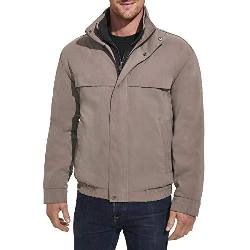 Weatherproof Men's Lightweight Water Resistant Zip Bomber Jacket Taupe Size XXL