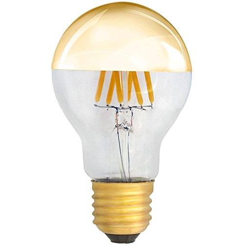 LED Filament Kopfspiegel GOLD 6W = 60W E27 AGL Glühlampe Glühbirne Glühfaden warmweiß