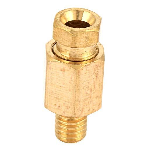 5stk Messing Schlauchanschluss Messing Reduzier Rohranschluss NPT Adapter Ölleitungsanschluss(PD405(M5X0.8-Φ4))