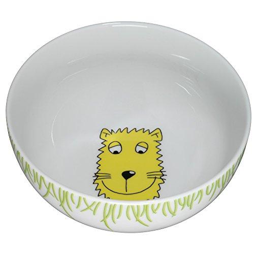 WMF Safari naczynia dla dzieci miseczka na myszkę dla dzieci 13,8 cm, porcelana, nadaje się do mycia w zmywarce, nadaje się do kontaktu z żywnością