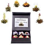 """Creano Tea Variazione di Fiori di Tè """"Tèlini"""" - """"Tè nero e Tè bianco"""" in elegante Scatola magnetica con Goffratura argento"""