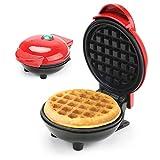 FOGARI - Mini Macchina per Waffle,Antiaderente per Cialde Individuali Macchina,singoli per DIY...