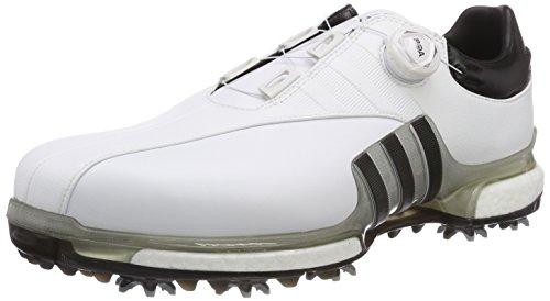 adidas Herren Tour360 EQT Boa Golfschuhe, Weiß (Blanco/Negro/Plata F33619), 48 2/3 EU