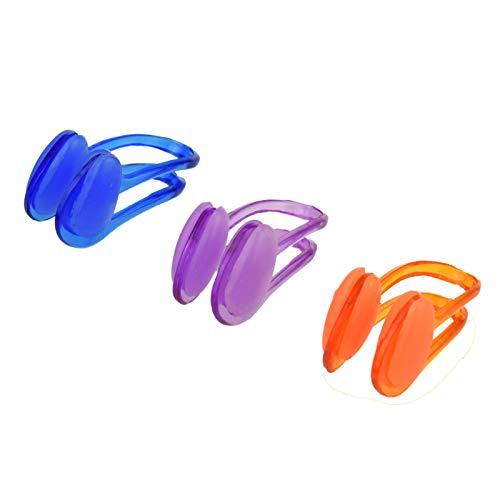 3 Nose Clips Nasenklammer für Schwimmer Professionelle wasserdichte Nasenclip und für Erwachsene und Kinder, (wiederverwendbare) weiche Silikon zum Schwimmen, Surfen und andere Wassersportarten