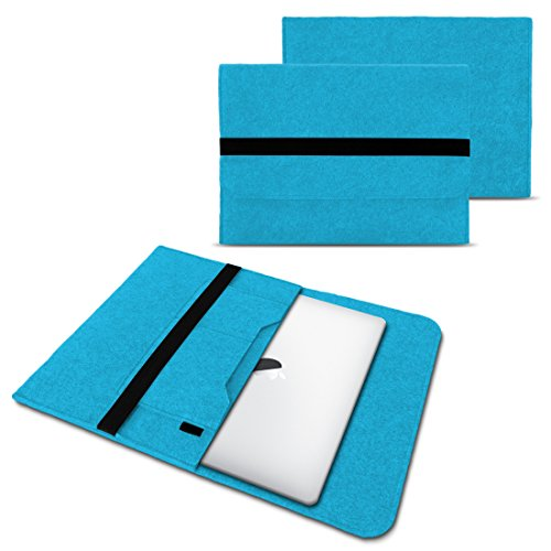 NAUC Laptop Tasche Sleeve Hülle Schutztasche Filz Cover für Tablets & Notebooks Farbauswahl kompatibel für Samsung Apple Asus Medion Lenovo, Farben:Türkis, Größe:12.5-13.3 Zoll